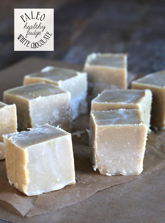 Gluten Free  --- Healthy White Chocolate Paleo Fudge
