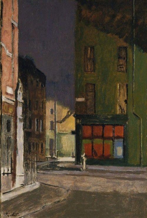 "urgetocreate: "" Walter Sickert, Maple Street, London, c.1922 """