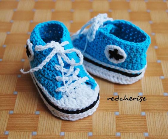 Crochet High Top Booties Free Pattern : Pinterest The world s catalog of ideas