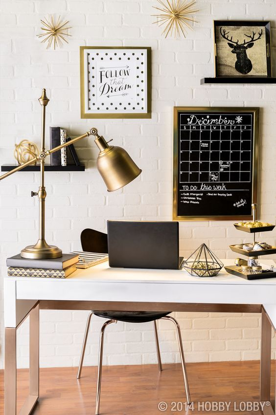 Organizing For The New Year With These 10 Amazon Finds Gold Home Decor Gold Office Decor Modern Home Office