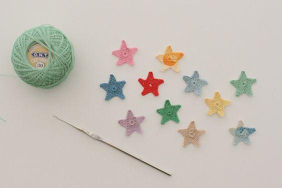 oh cute! crochet stars