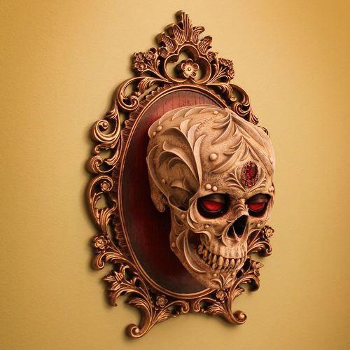 Decorative Skull Wall Plaque Darque Decor Framed