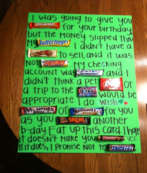 Boyfriend Birthday, Awesome And Candy Bars On Pinterest