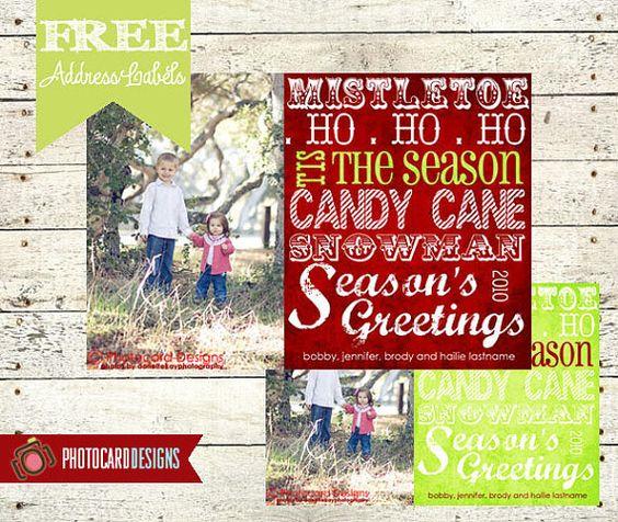 Christmas Photo Card  Holiday Photo Card  DIY by PhotocardDesign, $14.50