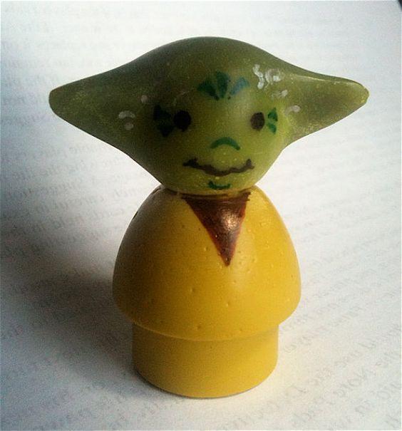 #yoda #little #people #vintage #fisher #price #yellow #green #star #wars