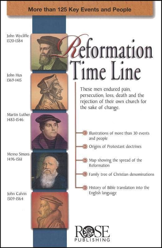 Reformation Time Line Reformation History Reformed Theology