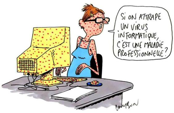 Les dangers des #virus informatique... #dessin #humour #informatique: