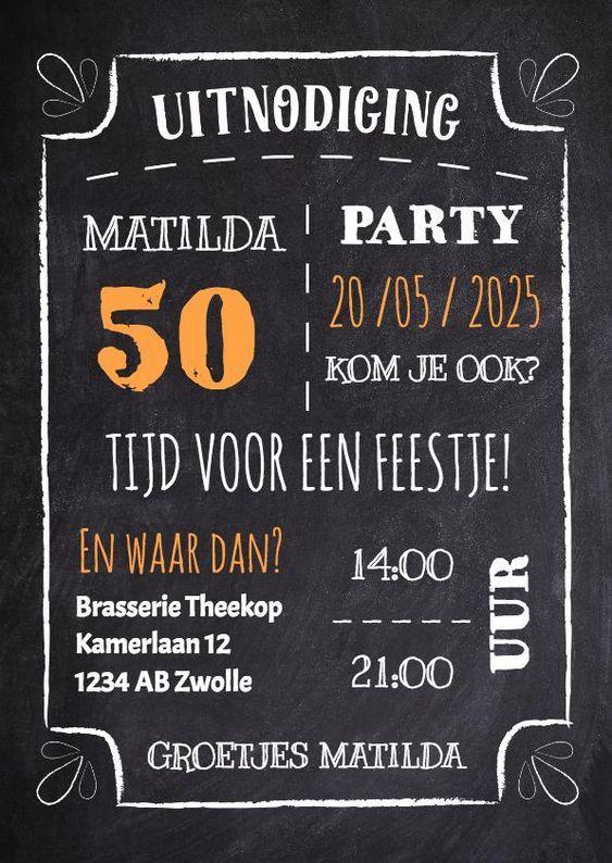 Uitnodigingen Verjaardag.Uitnodiging Maken 50 Jaar Zelf Uitnodiging Maken 50 Jaar