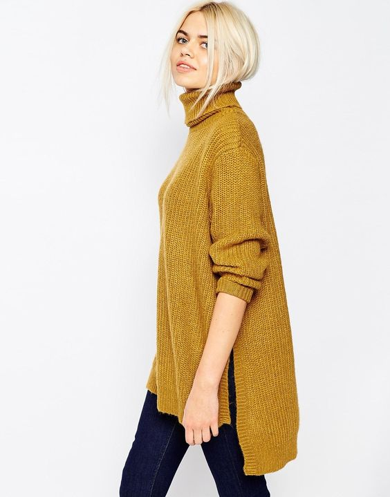 Monki oversize turtleneck jumper
