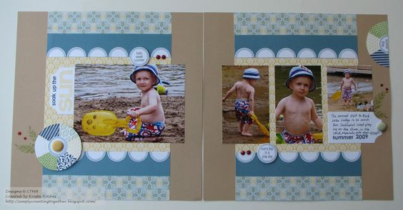 a Chantilly BOY layout by Krista Ritskes... very cute!