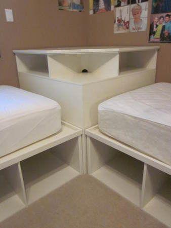 Tween Teen 2 Twin Beds Pottery Barn Corner Unit Ideas For The House Pinterest Homework
