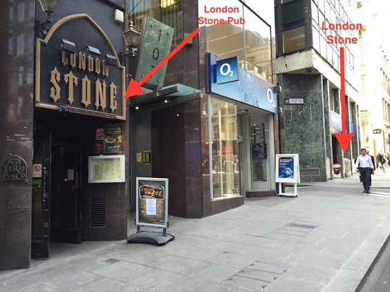 The unimpressive London Stone, opposite Cannon Street station in London, is an ancient and irregular piece of Oolitic limestone and object of great veneration in the past. Possibly Roman. http://en.wikipedia.org/wiki/London_Stone