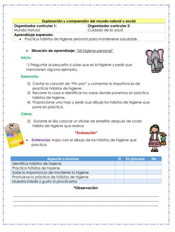 Ejemplo Situaciones De Aprendizaje En Casa Habitos De Higiene Personal Aprendizaje Habitos De Higiene