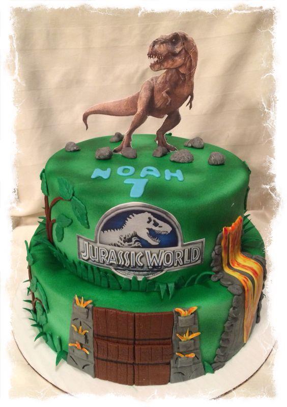 Lego Dino Birthday Cake