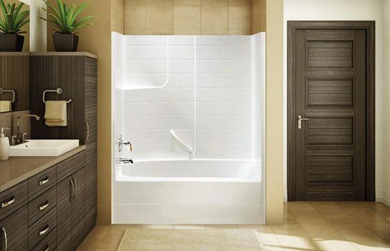 Upstairs Bath Tub Shower Surround Fiberglass One Piece Unit BH 61 Pinter