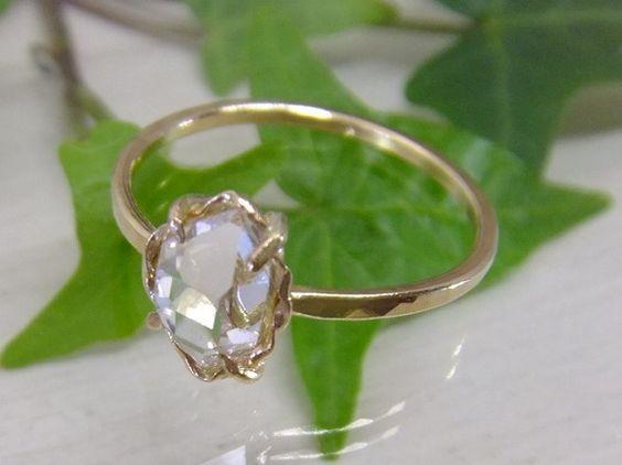 ハーキマーダイヤのアンティーク調リング14kgf製*掲載品のようにハイグレードのハーキマーダイヤでお作りします*ハーキマーダイヤは原石そのままの状態でカットさ...|ハンドメイド、手作り、手仕事品の通販・販売・購入ならCreema。