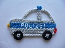 Polizeiauto - Häkelapplikation