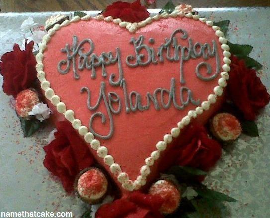 Happy Birthday Yolanda Cake