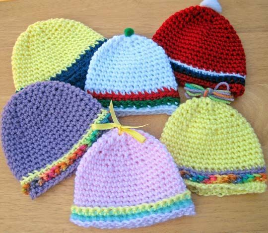 Free Crochet Baby Hat Pattern. | Børn | Pinterest | Ganchillo para ...