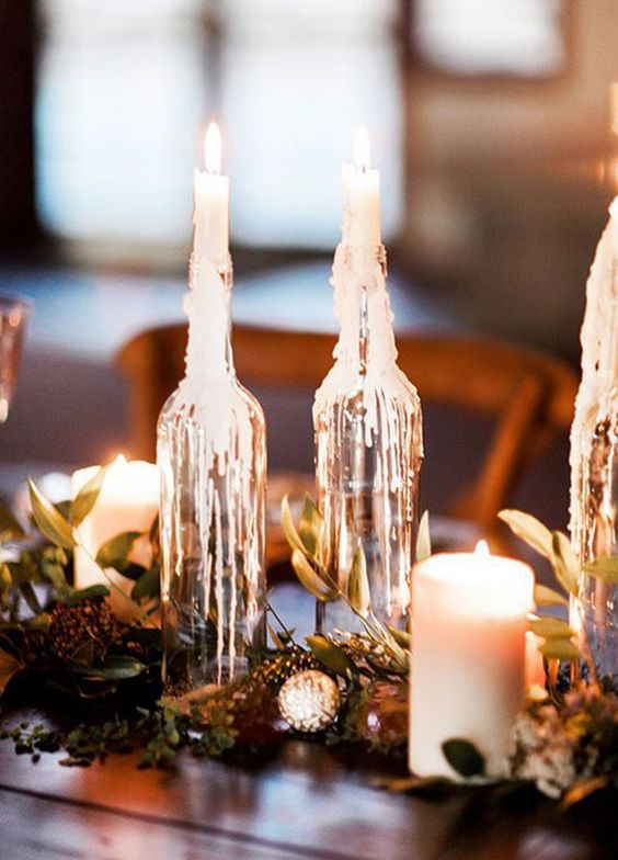 If your home isna��t swimming in candles, then are you really doing winter right? Translate that same element of romance into your wedding by making candles the center of attention.