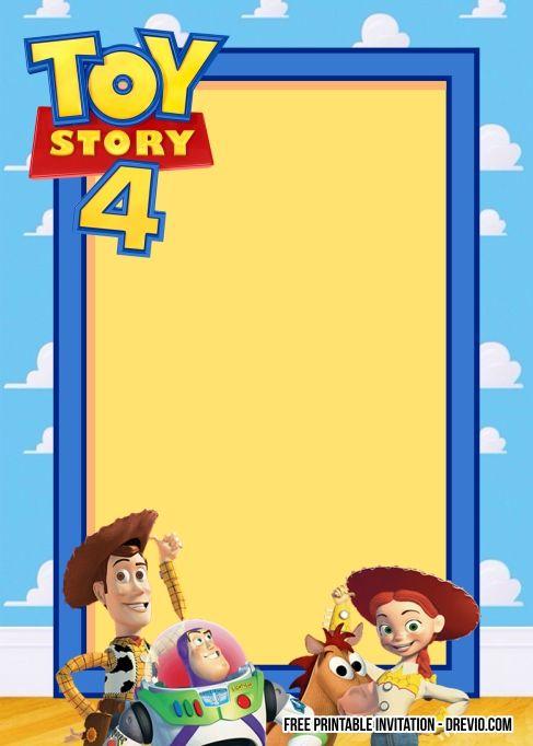 free toy story 4 birthday invitation