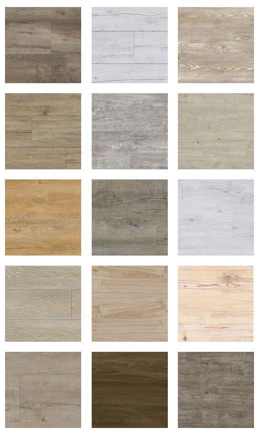 Selectie van onze houtlook pvc vloeren! Bestel 6 GRATIS stalen op onze website. Meer vloerenborden zien? Volg ons 'Floor boards' bord. Iedere week een nieuw bord! Vloernamen van boven naar onder: Rij 1: Lugano Forest XL, Light Muscade, Light pecan, Desert oak, Lugano light XL Rij 2: White pecan, Loft grey, Grey pecan, Fresh oak, Brown java oak Rij 3: Cove grey, Cream pine, White oak, Natural ash, Vintage grey: