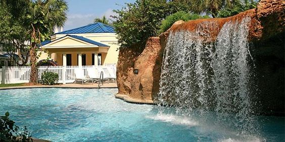 Waterfall at the Sheraton Nassau, Bahamas