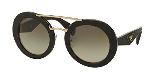 Prada ORNATE PR15SS Sunglasses 2AU4M1-53 - Havana Frame, Green Gradient -- You can find more details by visiting the image link.