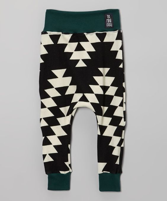 Take a look at this theMINIclassy Black & White Geometric Pants - Infant, Toddler & Girls on zulily today!