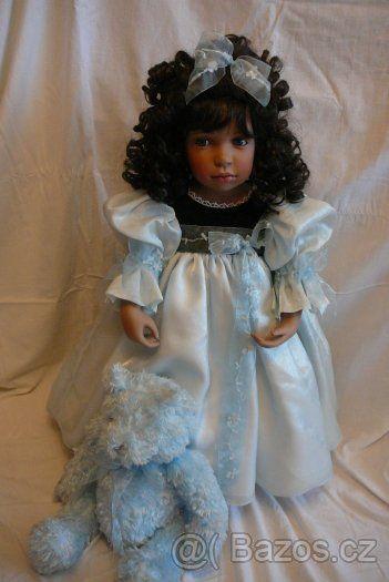 Roztomilá porcelánová panenka Pamela Erff SLEVA - 1