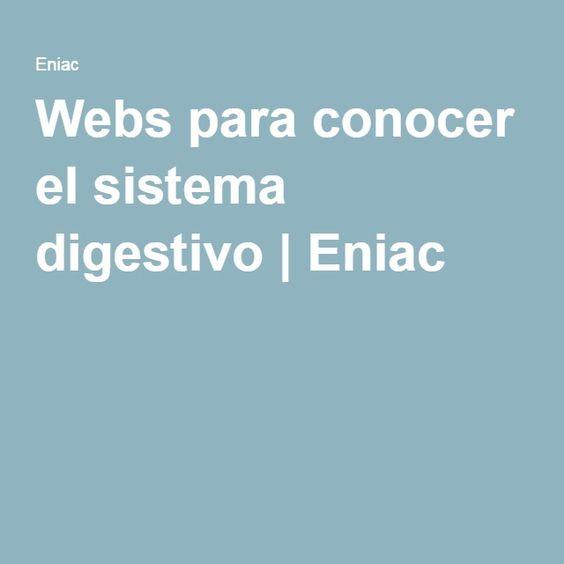 Webs para conocer el sistema digestivo | Eniac