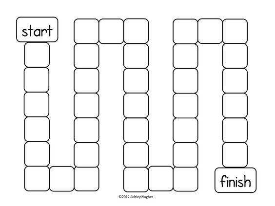 Free game board template!