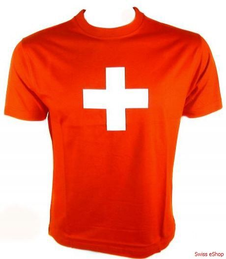 """Swiss Cross T-Shirt / Quality T-Shirt """"Swiss Cross"""" is one of the favorite T-Shirt in the world. A great souvenir for young and old."""