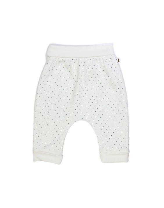 Oeuf Organic Hammer Pants With Indigo Polka Dots