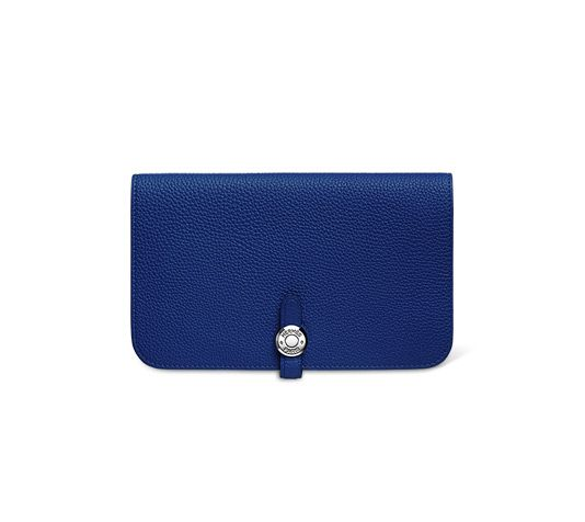 hermes travel birkin - Dogon Duo Combined wallet in electric blue Togo calfskin, lined ...