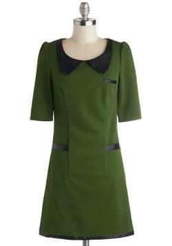 I just love the mod vibe. Jolly Green Client Dress, #ModCloth