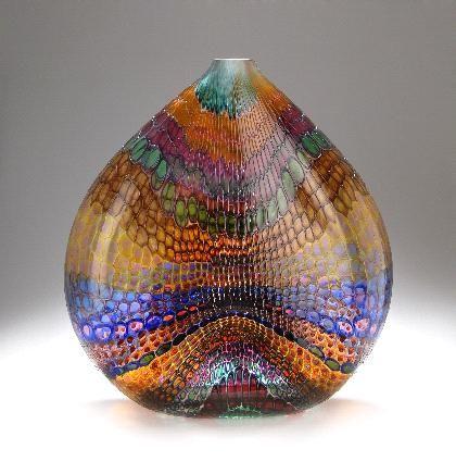 "Stephen Rolfe Powell, United States - Vase ""Salmon Pucker Johnson"" ccirca 1993"