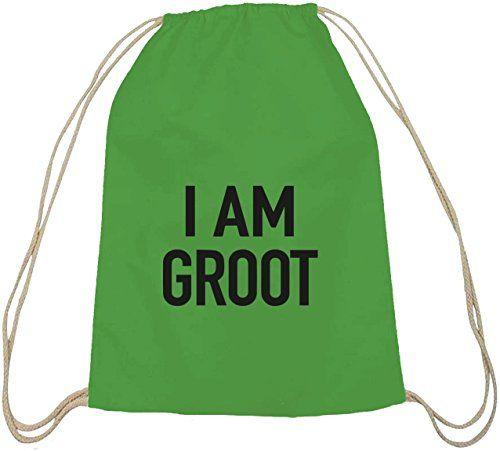 Shirtstreet24, I Am Groot, Serien Nerd Baumwoll natur Turnbeutel Rucksack Sport Beutel - http://herrentaschenkaufen.de/shirtstreet24/shirtstreet24-i-am-groot-serien-nerd-baumwoll