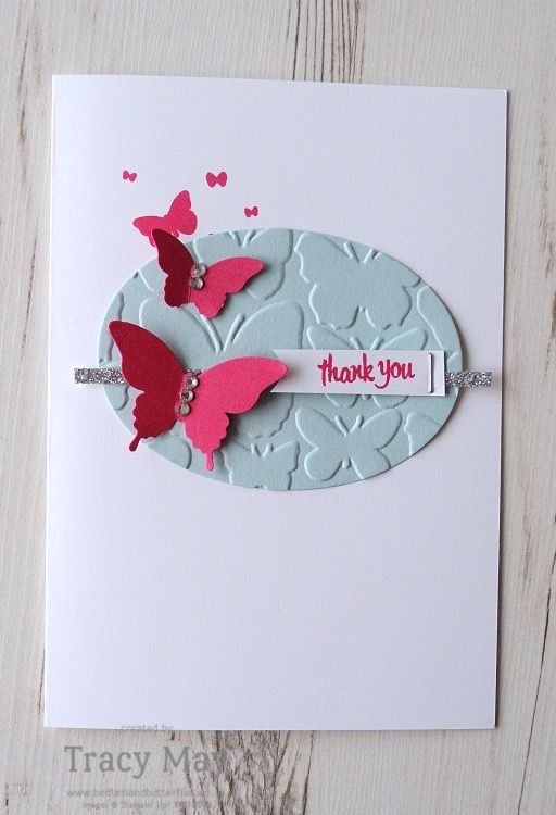 Butterfly Card using Stampin' Up! Products Tracy May #SS002