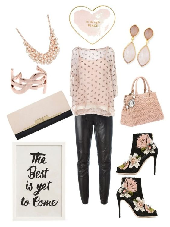 """""""Heading Your Way...⚫️"""" by belinda54-1 on Polyvore featuring Barbara Bui, Phase Eight, Dolce&Gabbana, Kate Spade, Miss Selfridge, Dina Mackney, Charter Club, Pottery Barn and Yves Saint Laurent"""