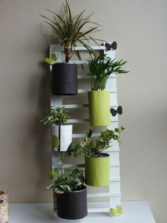 Bricolage and d co on pinterest - Echelle decorative pour plantes ...
