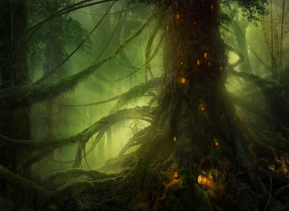Feywild Tree Settlement?  Pendelhaven by ~Philipstraub