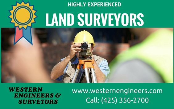 Professionals and licensed Land Surveying Firm  Welcome to Western Engineers & Surveyors, Inc. We have the experience and competency to efficiently and affordably deliver any commercial or residential land survey. For more info call: (425) 356-2700 Visit: http://westernengineers.com/