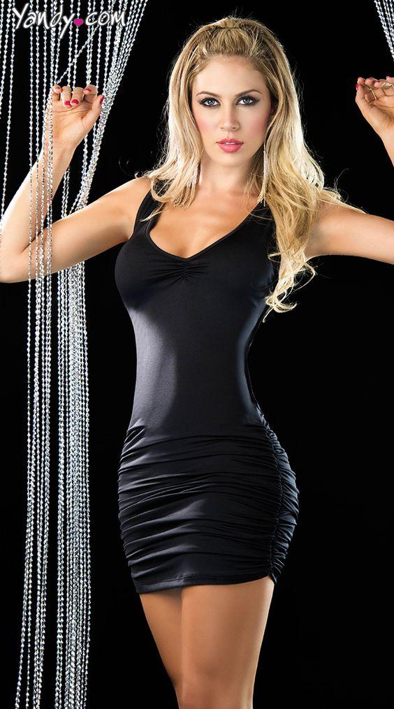Amazoncom: Sexy Black Mini Dress: Clothing