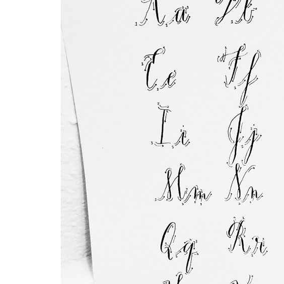 SKD Calligraphy exemplar used as a style to do her hand pointed pen calligraphy