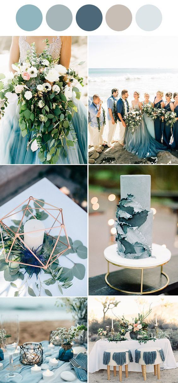 Pin By Weddingcenter On Blue Wedding In 2019 Beach Wedding