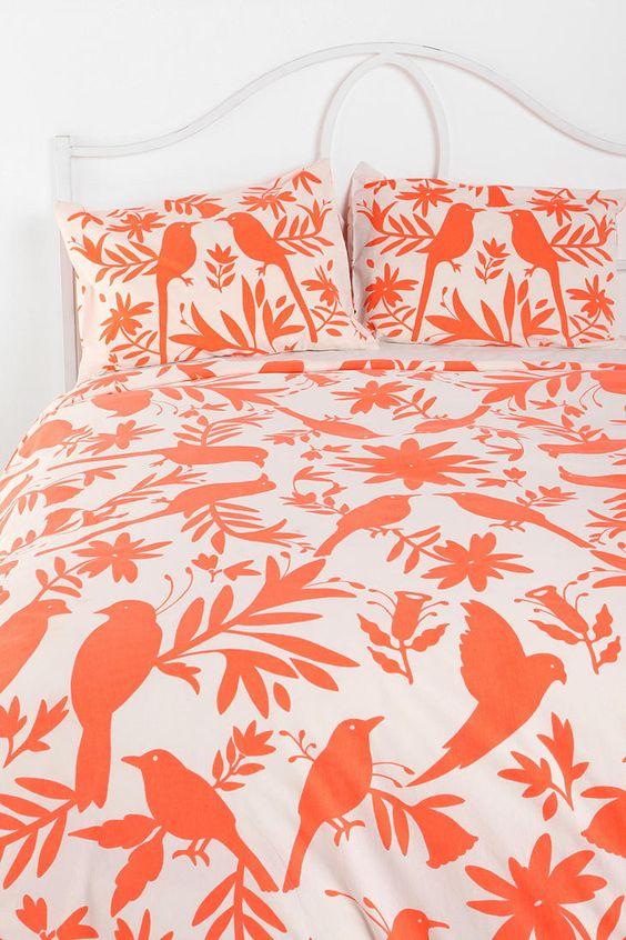 Scenic Birds Duvet Cover