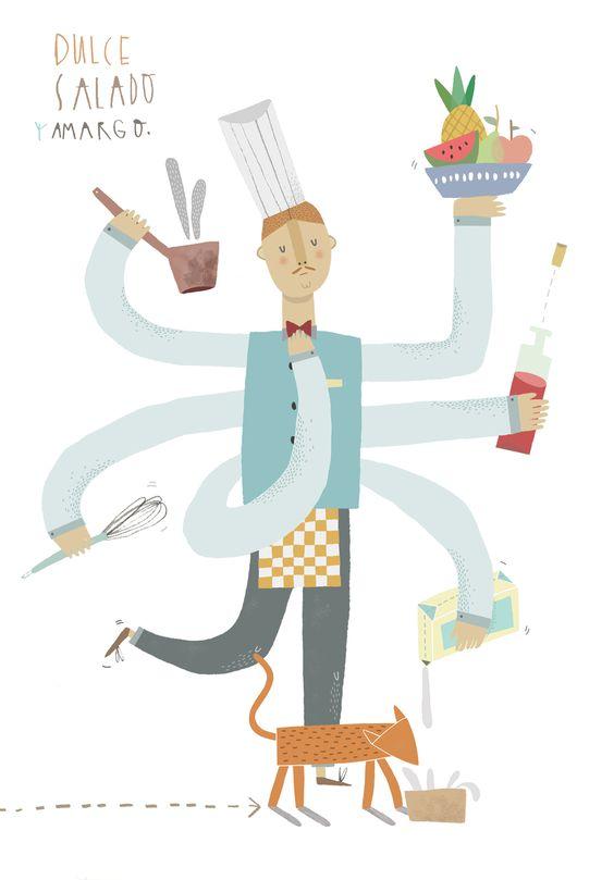 Dulce, Salado y Amargo - Teresa Bellón #illustration