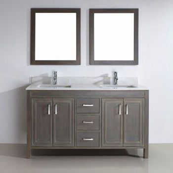 Costco corniche 60 french gray double sink vanity by studio bathe master bathroom renovation for Costco bathroom vanities canada