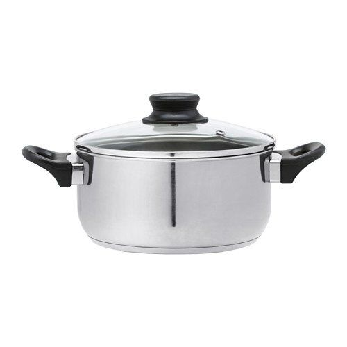 ikea   annons pot with lid the glass lid allows you to monitor the contents of the pot during the cooking process works well on all types of hobs     350 best cookware images on pinterest   amazon stainless steel      rh   pinterest co uk